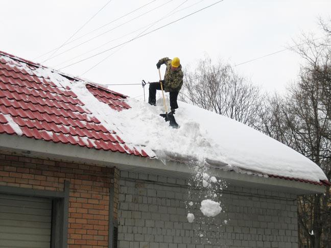Чистка снега с крыши челябинск
