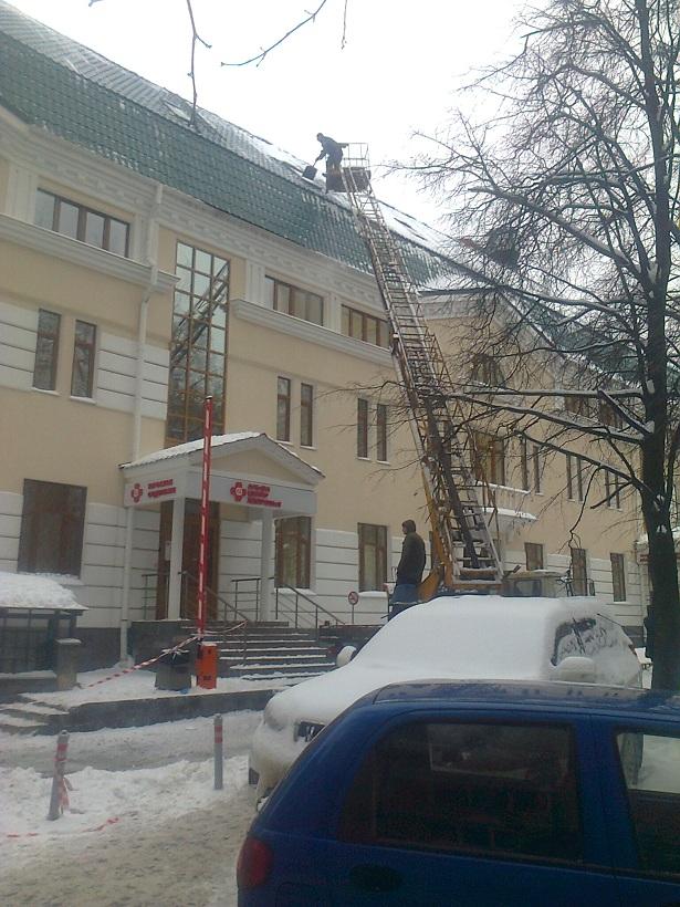 Уборка снега киров с крыш