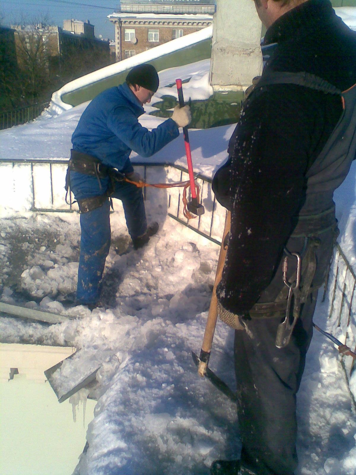Инструкция по чистке крыши от снега