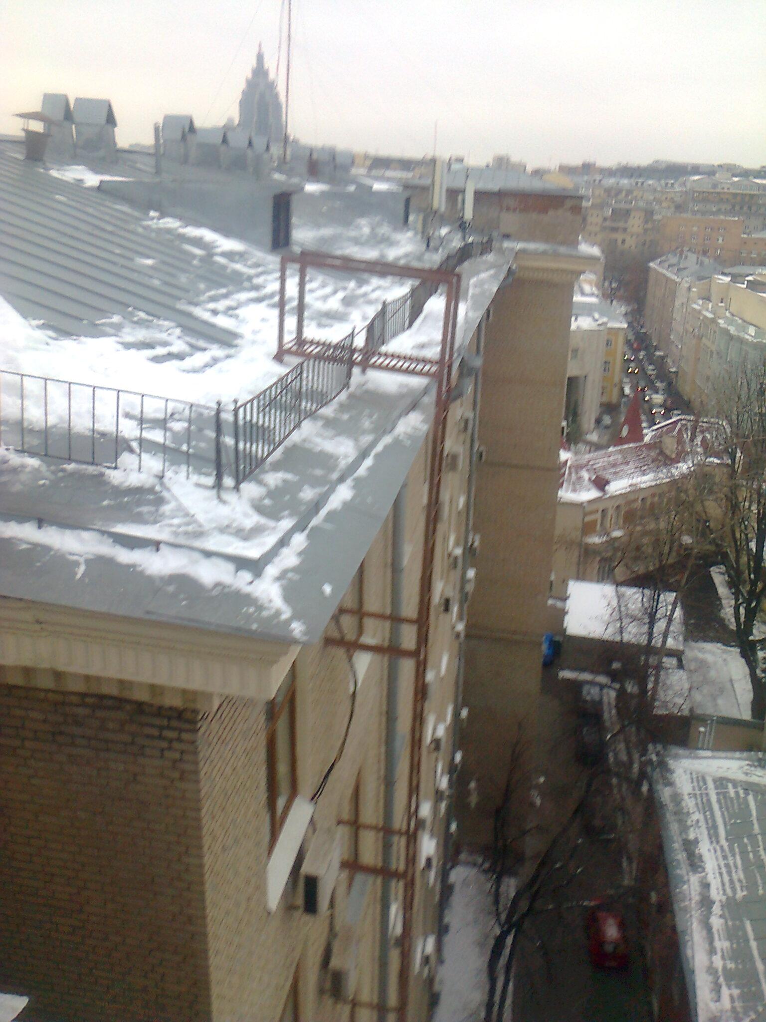 Технология очистки крыш от снега