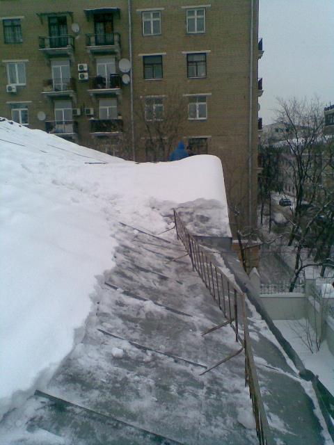 Фото уборка снега с крыш